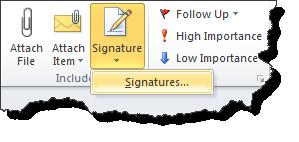Signaturen in Outlook 2010 aus Mails bearbeiten